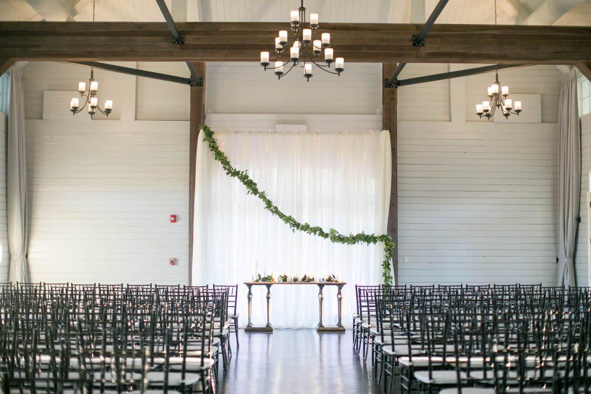 Foxhall Resort Wedding Ceremony Setup Shauna Veasey Photography
