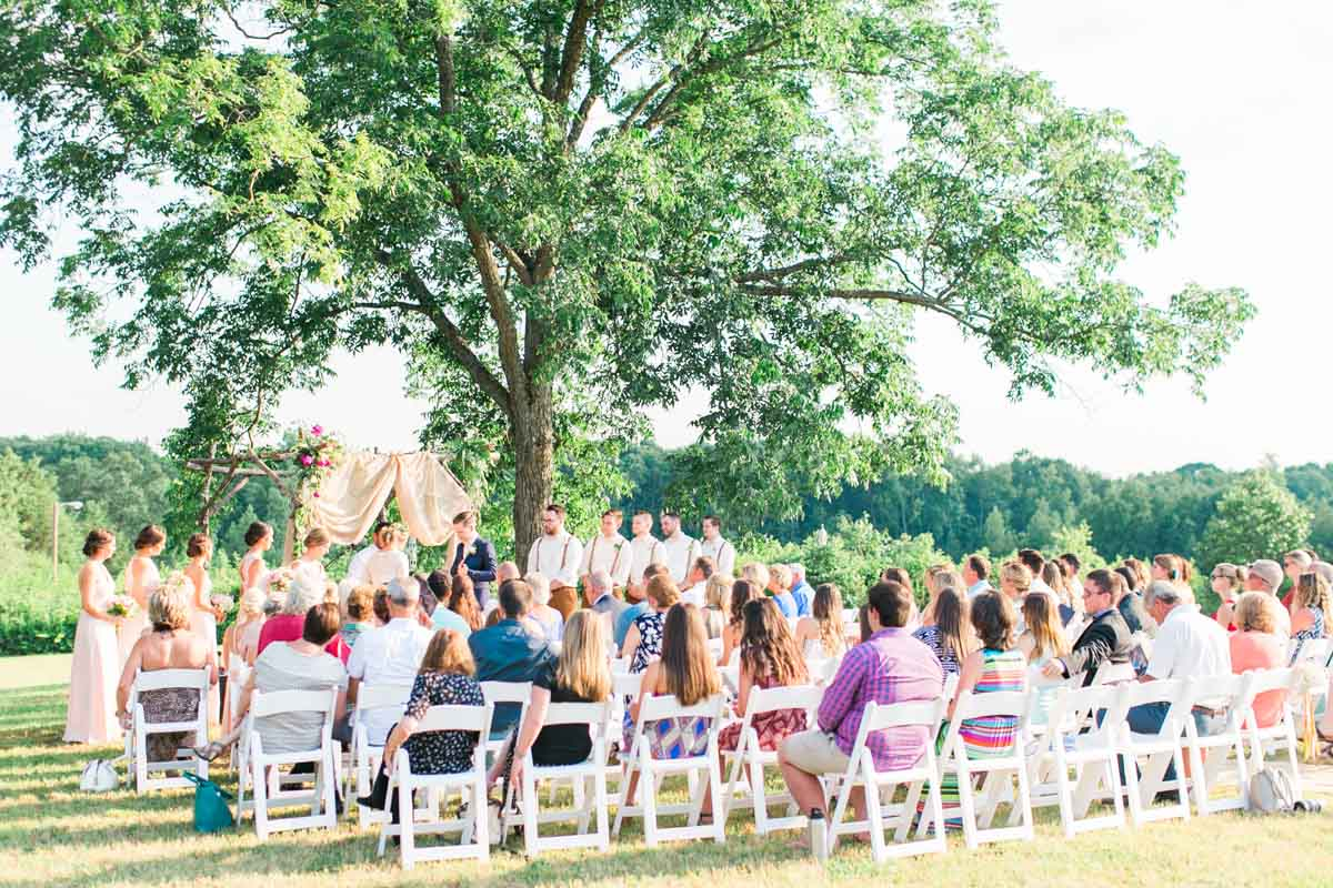 Stylish And Colorful Summer Wedding At Ellery Farms In