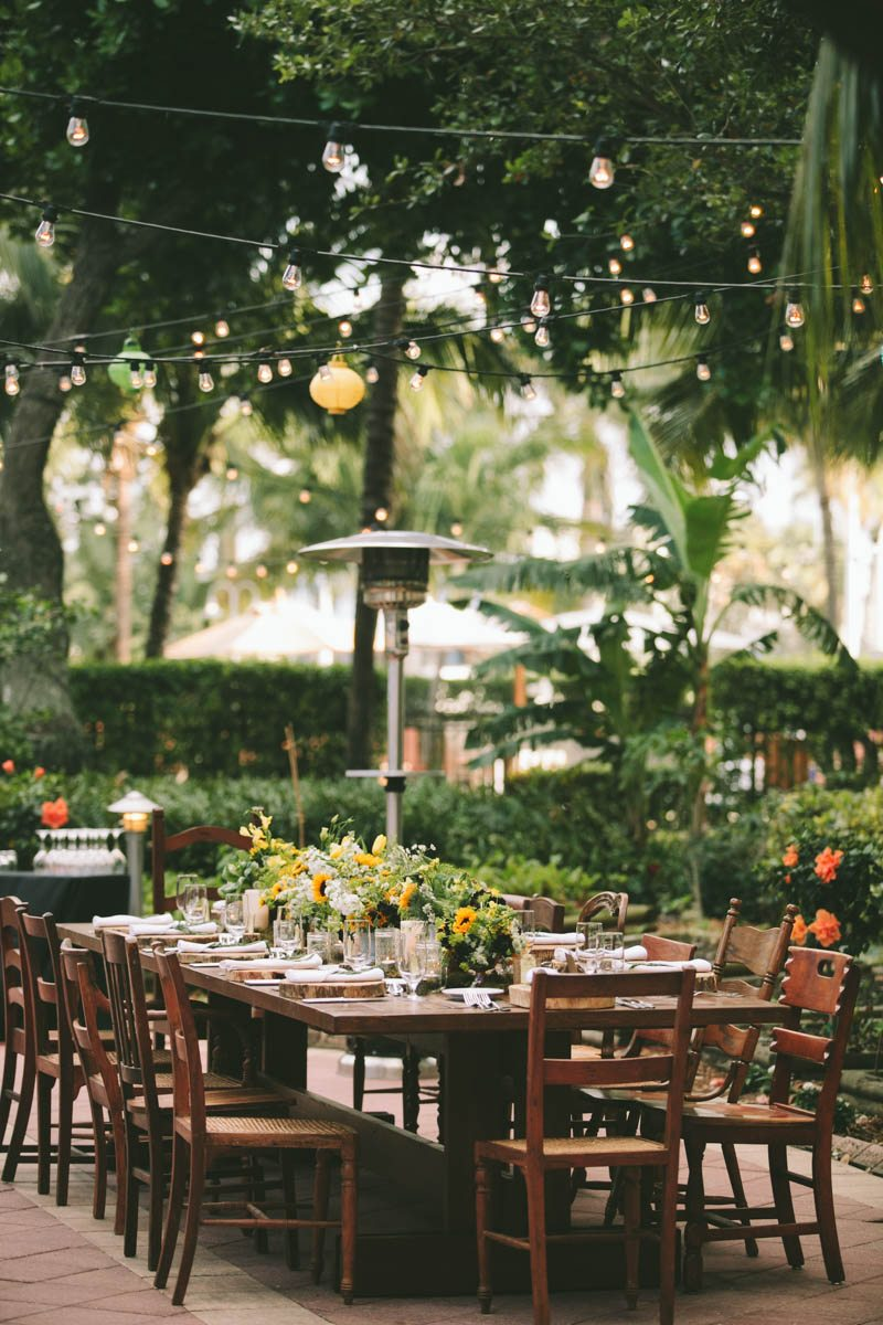 Al fresco rehearsal dinner inspiration at west palm beach marriott in west palm beach fl
