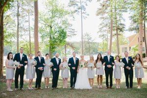 gray-bridesmaid-dresses-navy-groomsmen-suits