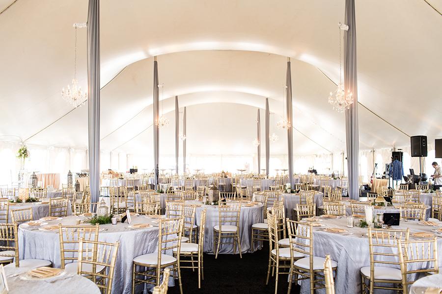 Tented hotel wedding