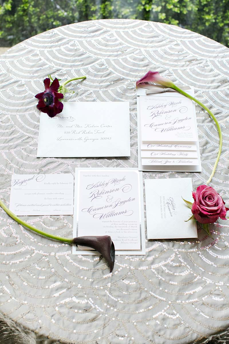 Modern Purple Wedding Inspiration at Mandarin Oriental in Atlanta ...