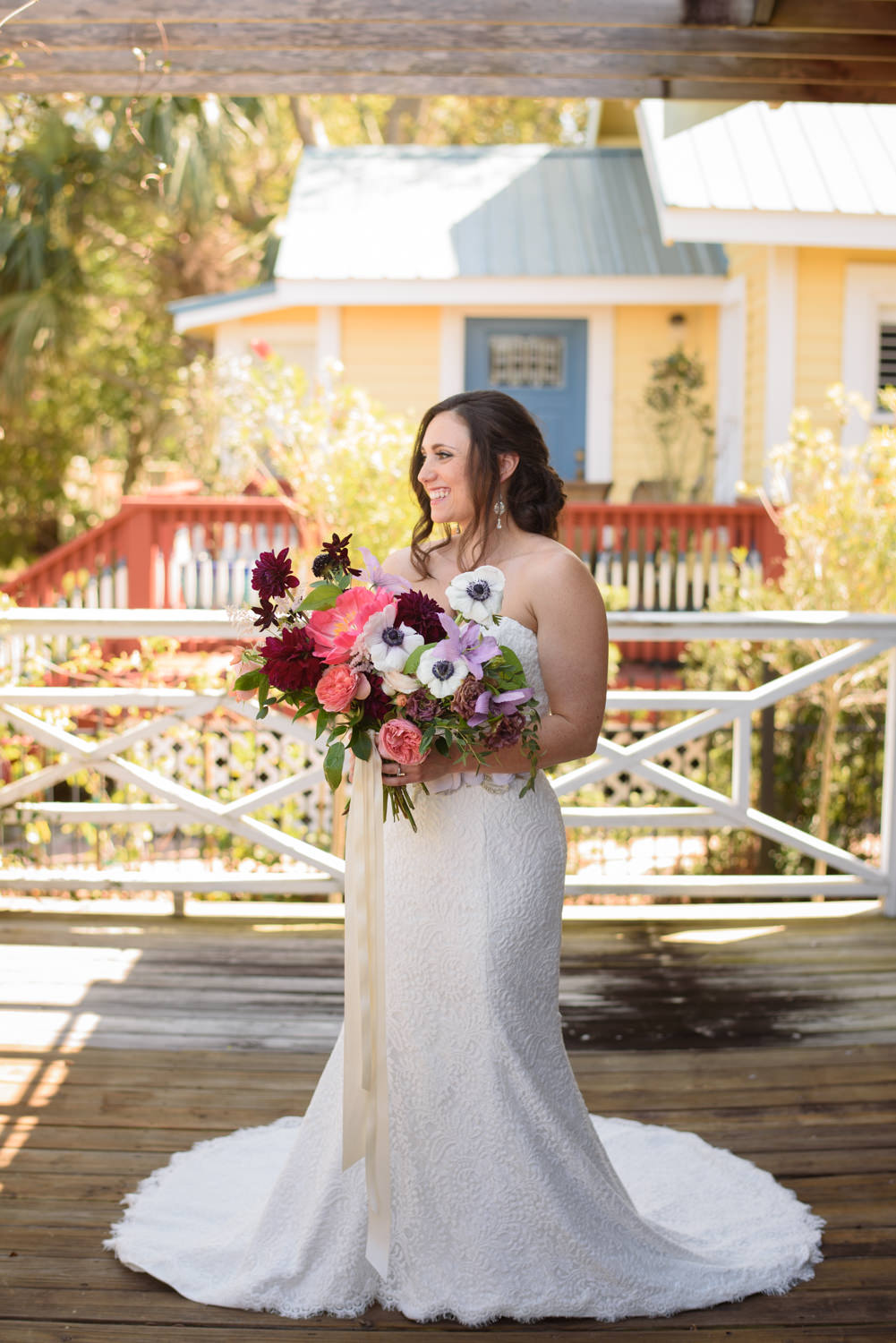 A Simply Beautiful Outdoor Wedding At The Oldest House In St. Augustine,  Florida