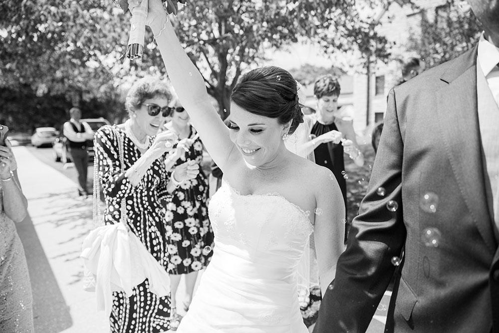 Bride leaving ceremony