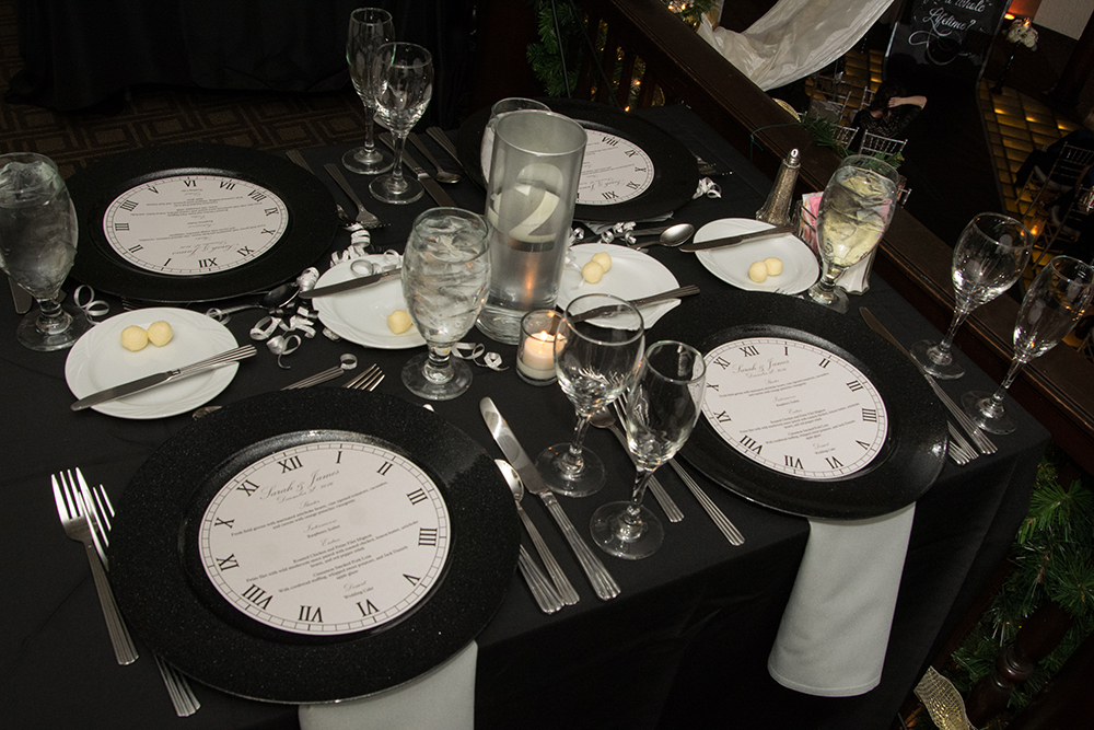 NYE reception decor