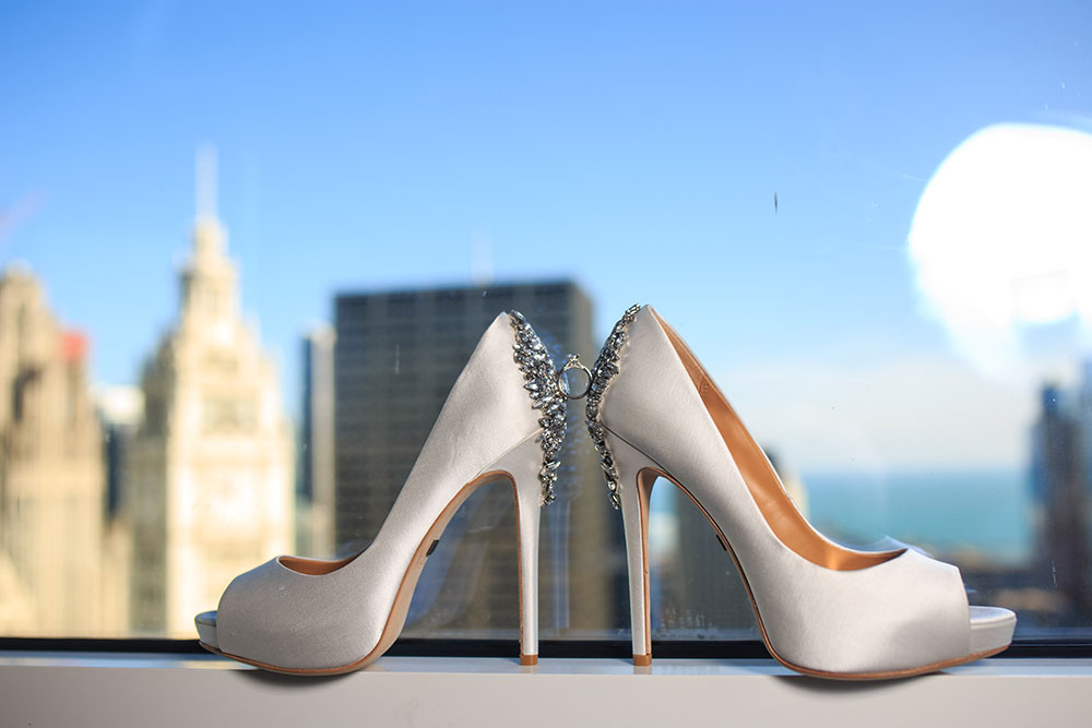 Stunning bride's shoes