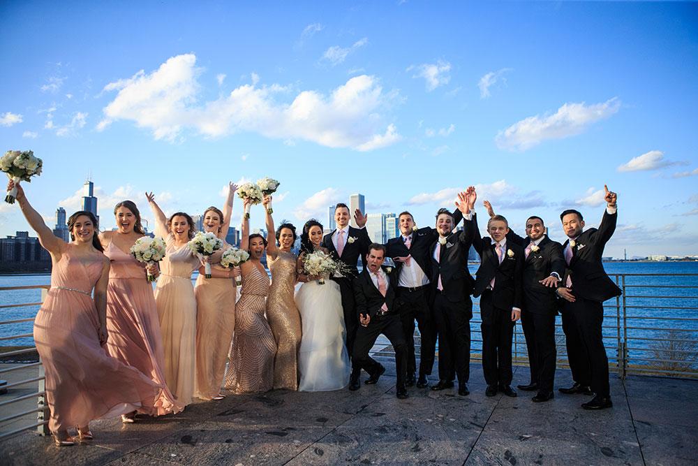 Adler Planetarium bridal party