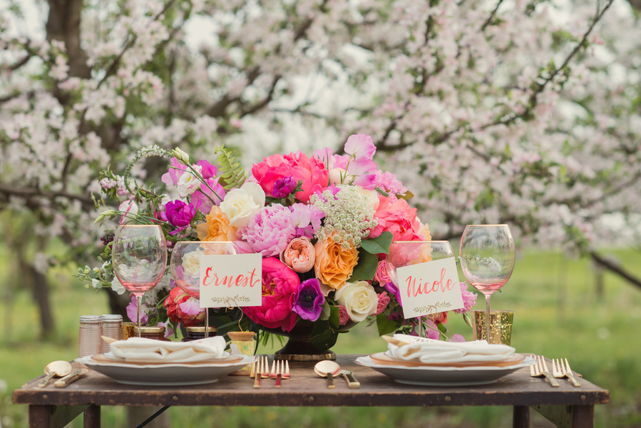 Gorgeous spring tablescape