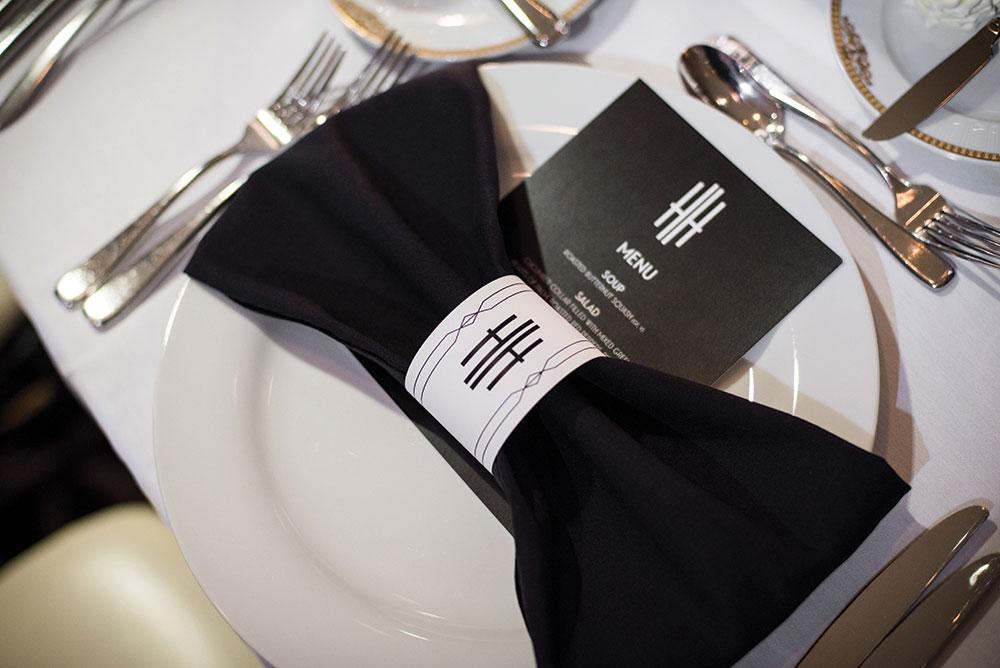 wedding menu tables cape