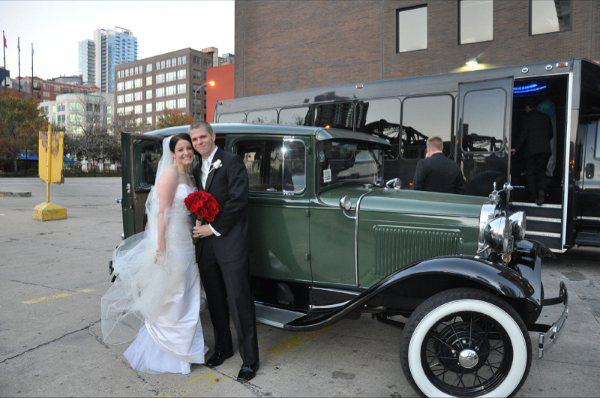 Classic Wedding Car in Roselle, Illinois