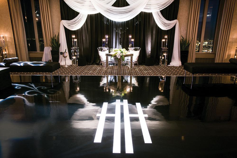 wedding reception floor logo