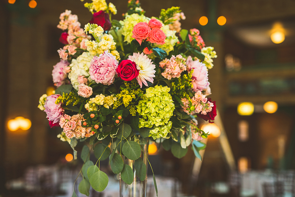 Beautiful lush centerpieces