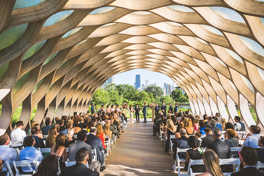 Lincoln Park wedding ceremony