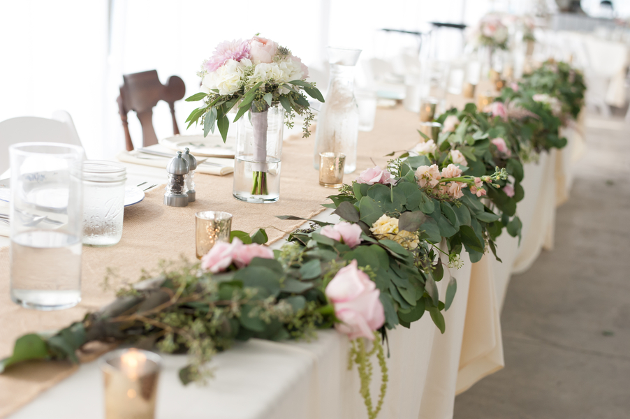 Green wedding decor