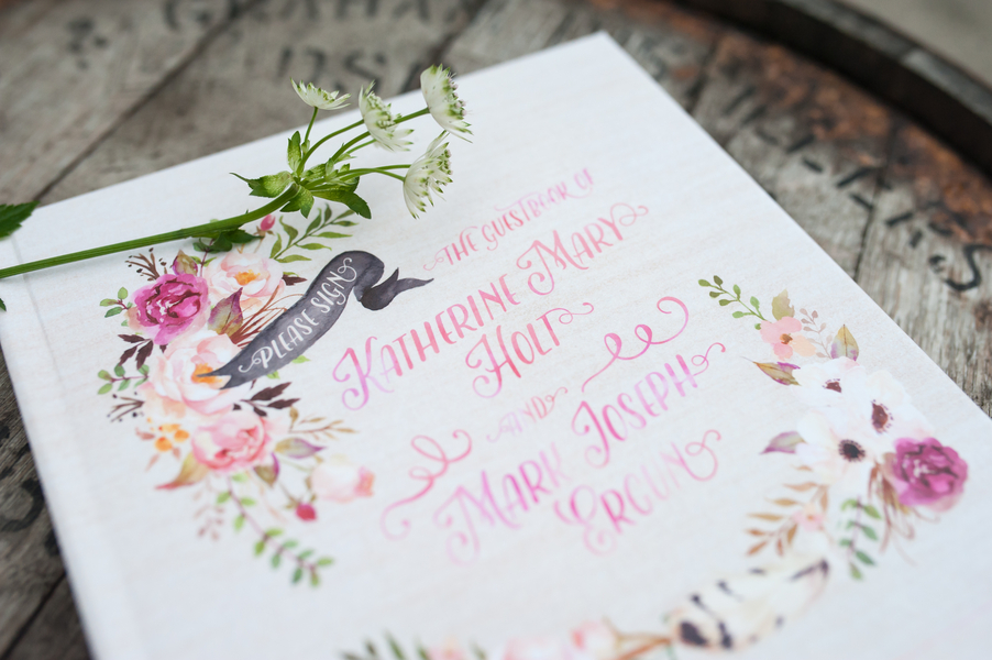 romantic wedding guestbook