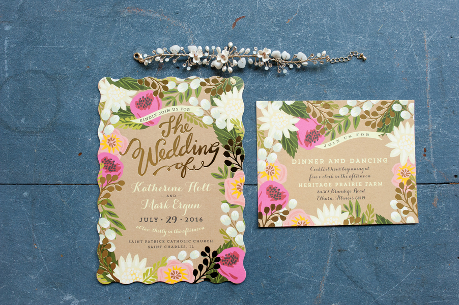 Rustic barn wedding invitaiton suite