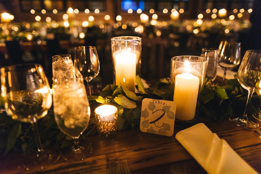 Romantic wedding tablescape