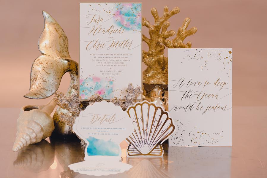 Under The Sea Wedding Invitation Suite