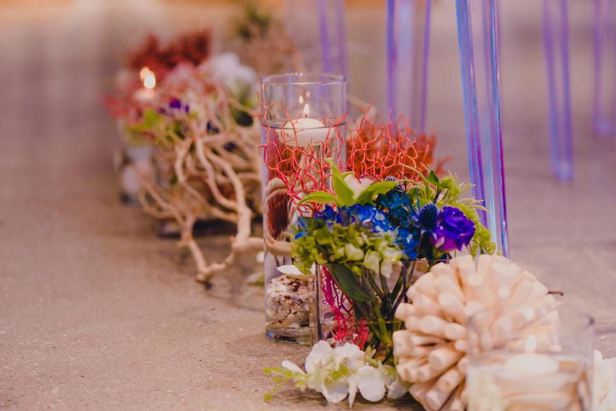 beach inspired wedding ceremony decor