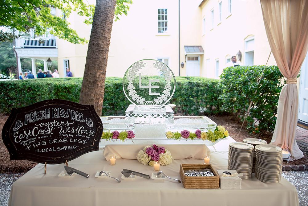 fresh raw food wedding station