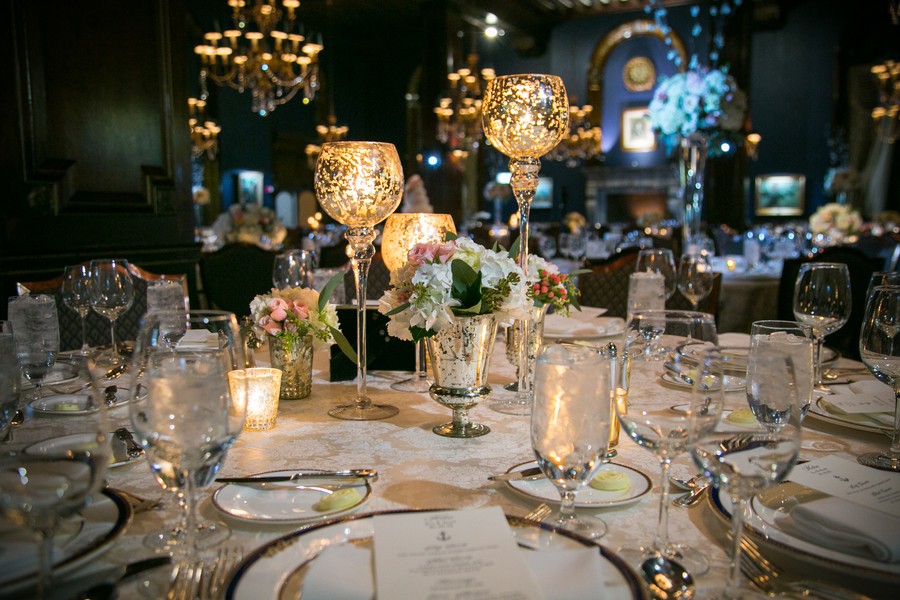 romantic Chicago wedding tablescape