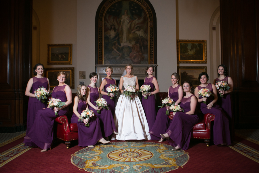 elegant Chicago bridesmaids