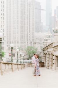 Downtown Chicago anniversary shoot