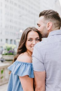 adorable Chicago engagement