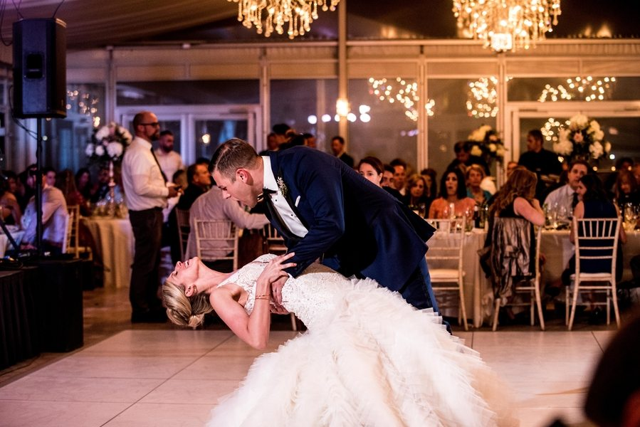 Chicago bride and groom dance