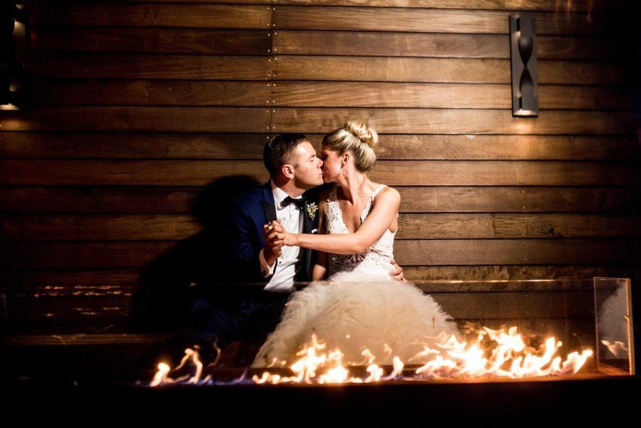 outdoor firepit wedding