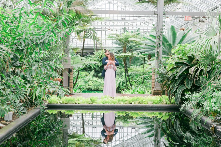 Garfield Park Conservatory Wedding.Romantic Sweet Garfield Park Conservatory Engagement The