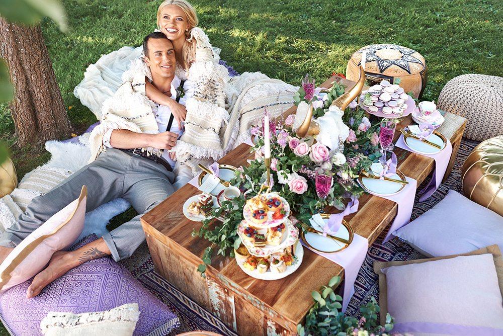 Free Spirited Lavender Boho Inspired Styled Shoot - The Celebration