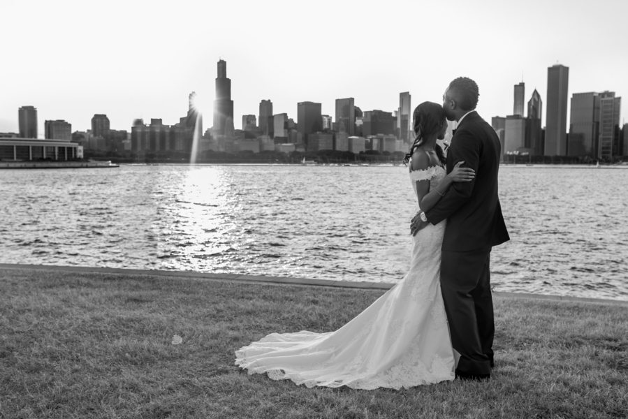 Adler Planetarium Wedding.Just Wed Jocelyn Earnest S Sunset Adler Planetarium Wedding The