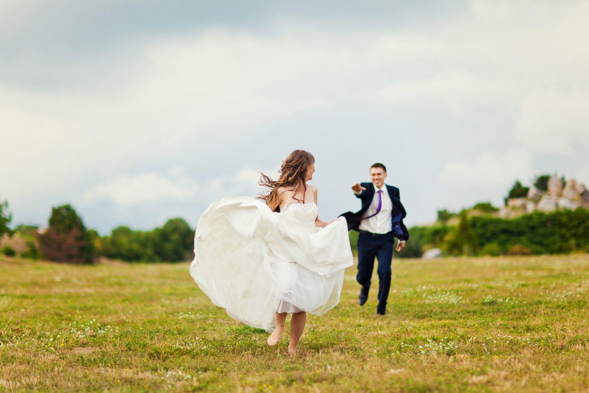 Cold feet on wedding day