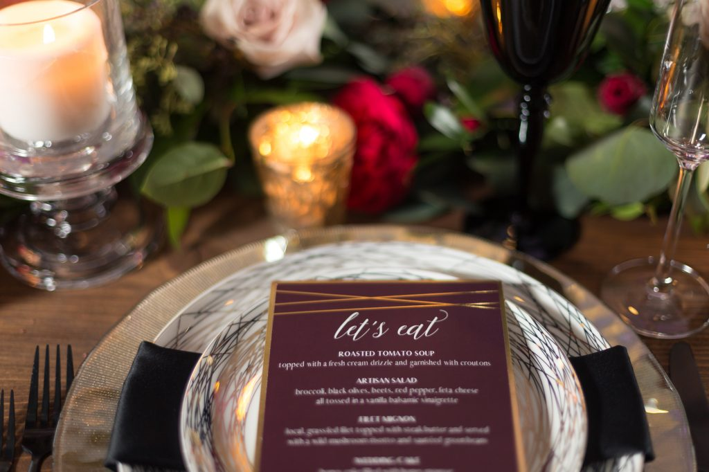 Burgundy Winter Wedding at the Chicago Marriott Naperville - The ...