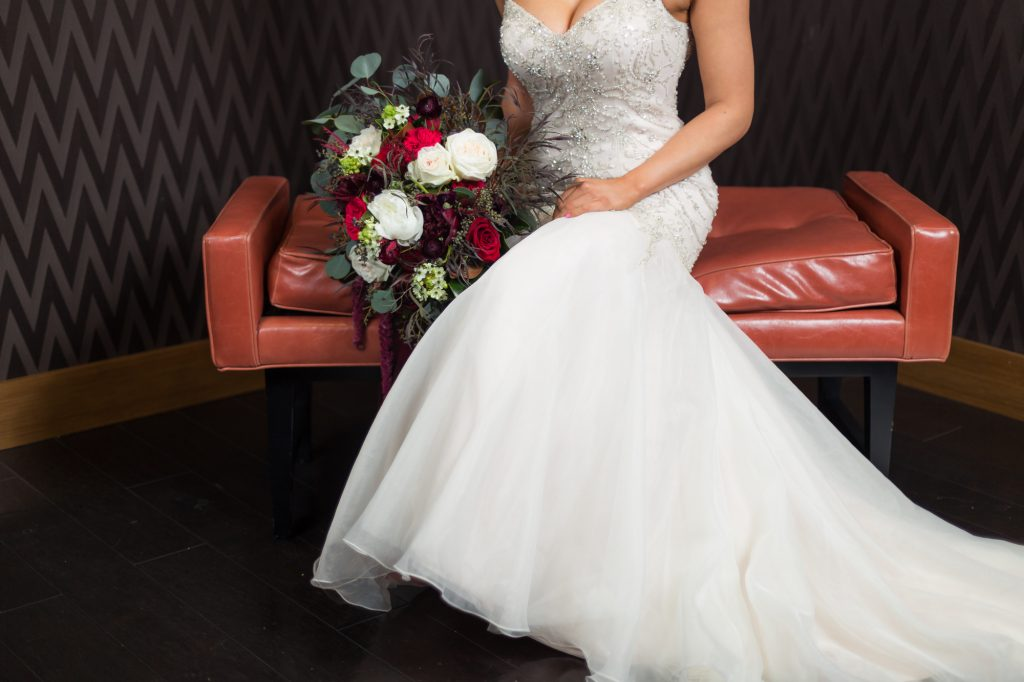 Burgundy Winter Wedding At The Chicago Marriott Naperville The Celebration Society,Black Dress To Wear To Wedding
