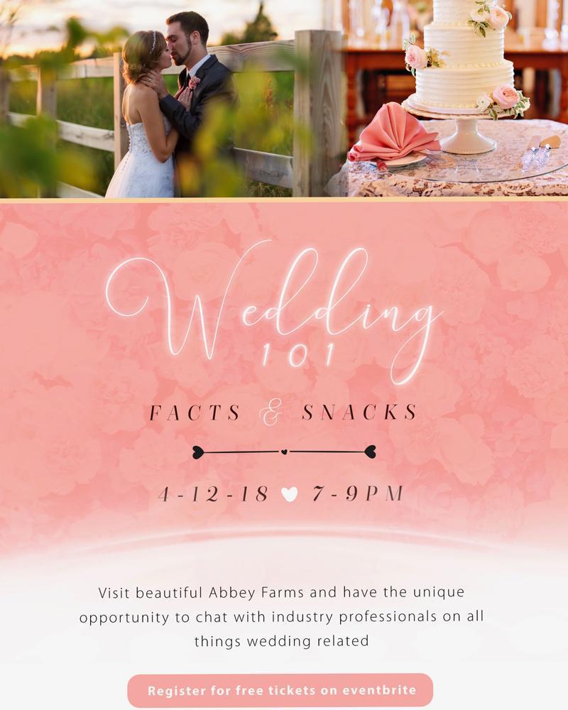Abbey Farms Wedding 101 April 2018