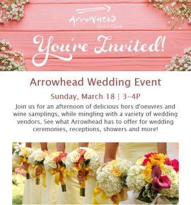 Arrowhead Golf Club Wedding Event March 2018