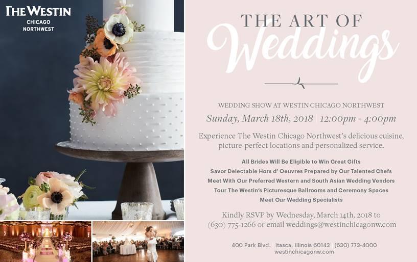 Westin Chicago Northwest Bridal Show March 2018 Itasca, Illinois