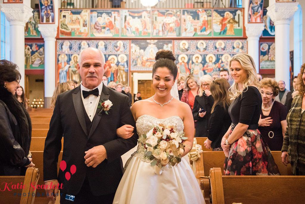 Monica and Stavros at Ruffled Feathers Country Club