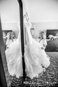 brushing bride