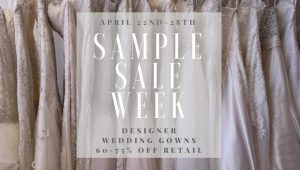Diana's Bridal Blowout Sample Sale April 2018