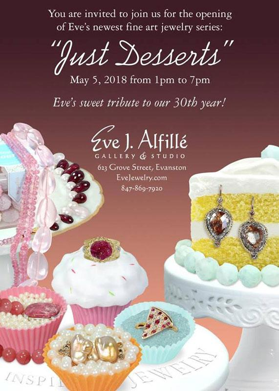 Eve J Alfille Jewelry Just Desserts Opening May 2018