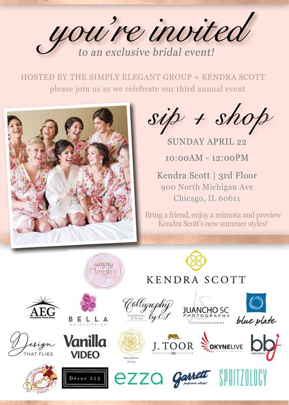 Kendra Scott & Simply Elegant Group Sip & Shop April 2018