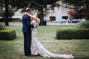 Hilton Chicago in Chicago IL bride and groom
