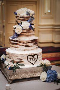 Tomi & Matan at Hilton Chicago in Chicago IL wedding cake