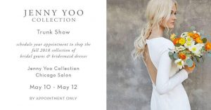 Jenny Yoo Trunk Show Chicago May 2018