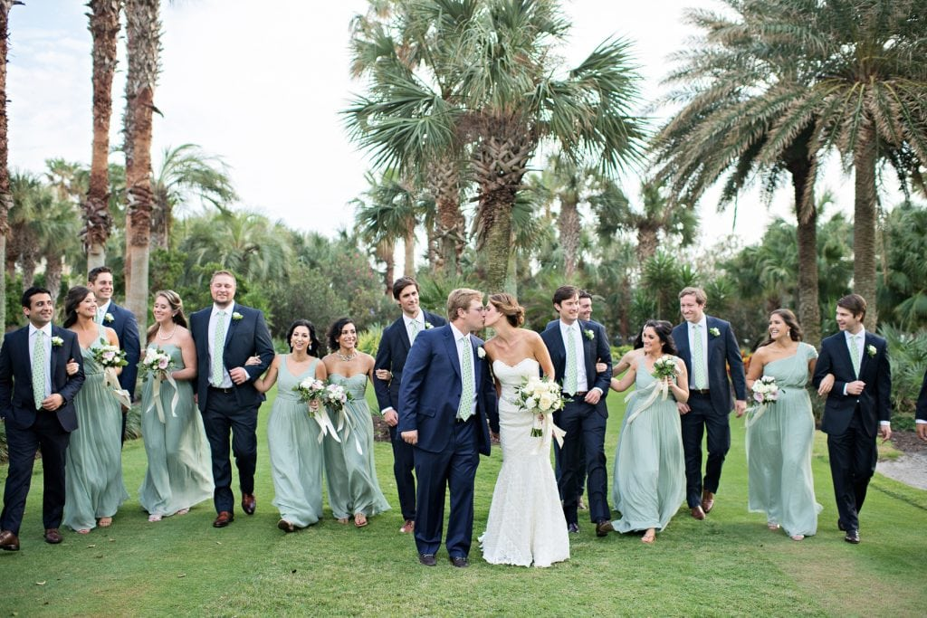 Navy & Green Palm Coast Destination Wedding - The Celebration Society