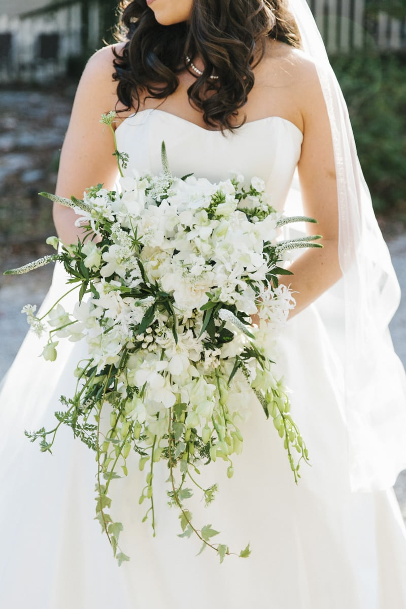 Cascading Bridal Bouquet White Bridesmaids Bouquets How Much Does It Cost The Celebration Society