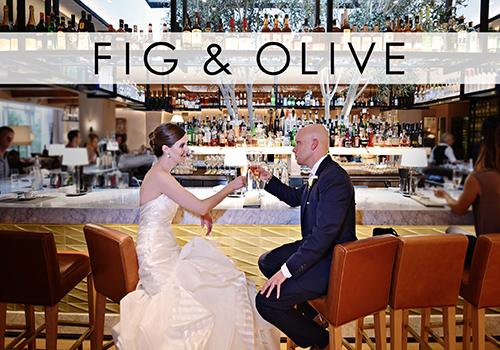 Fig & Olive Chicago Wedding Venue Rehearsal Dinner in Chicago, Illinois